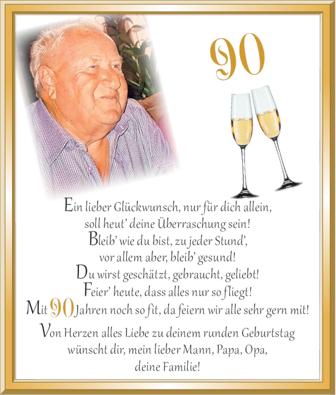 Gluckwunsche 90 geburtstag opa