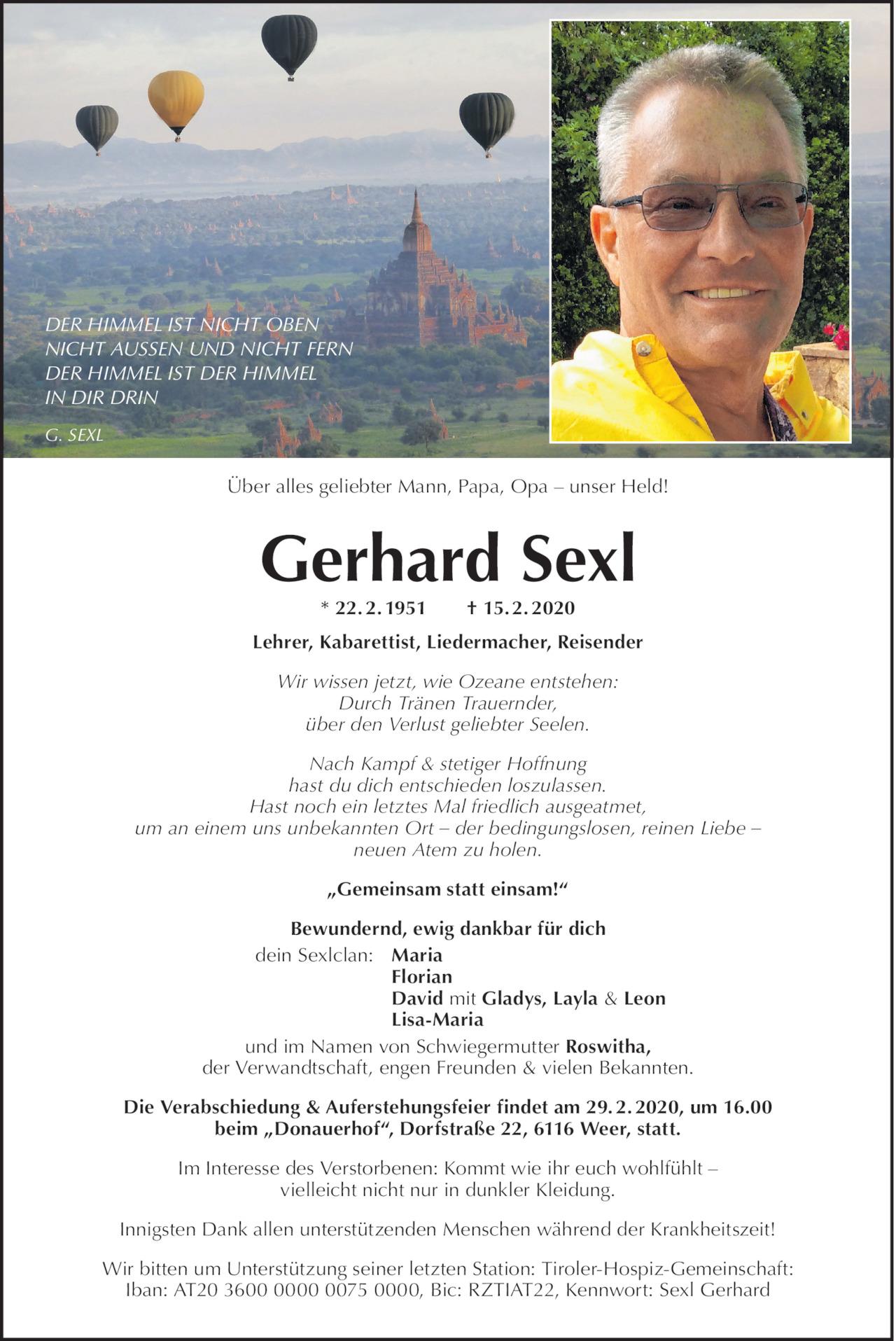 Gerhard Sexl Bild