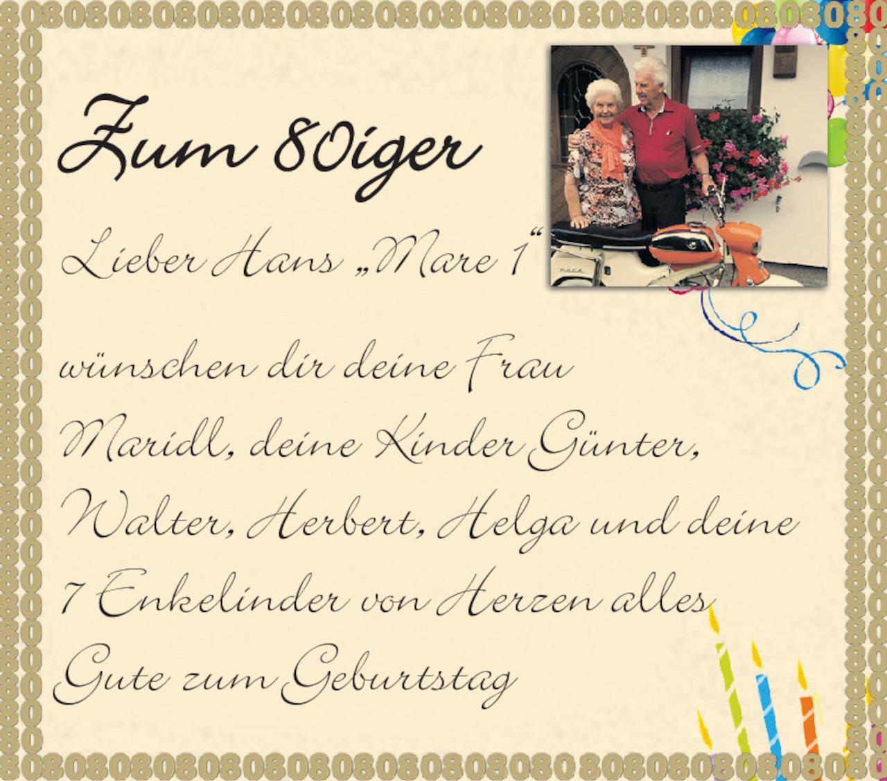 Geburtstagskarte 80 Geburtstag Luxus Gedicht Zum 80 Geburtstag